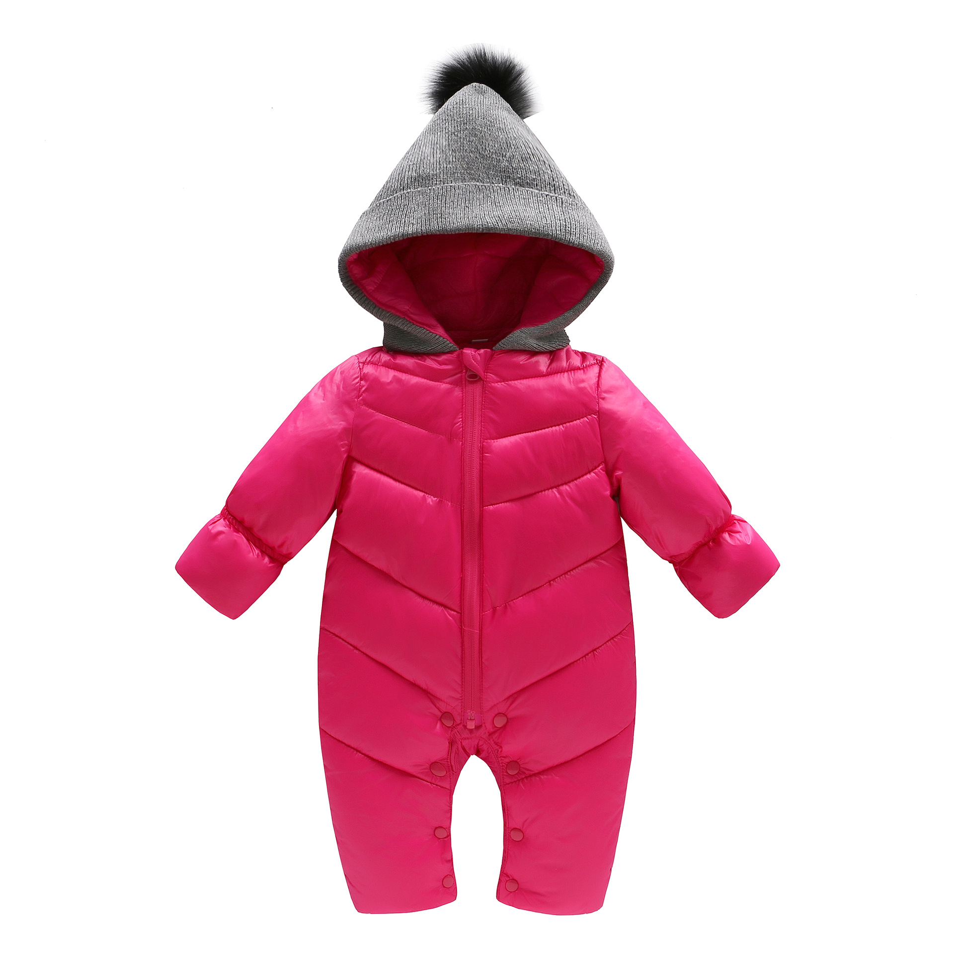 Baby Down Coats Lingerie New Autumn and Winter Baby Clothes Out of Hooded Climb Coat