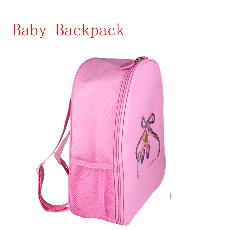 Grils Kids Dance Embroidered Sequin Ballet Shoes Pink Dance Ballet Handbags Waterproof Canvas Dance Bag For Children