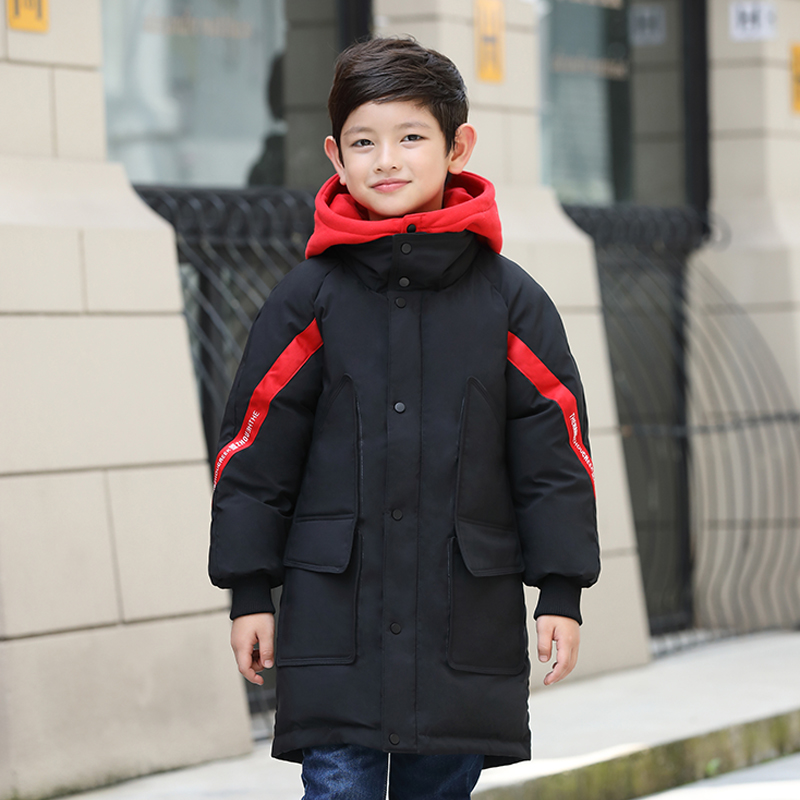 HSSCZL Boy&girls White Duck Down Jackets 2018 New Brand Hooded Children Clothing Long Girl Coat Outerwear Overcoat Clothes 5-14A пуховик для мальчиков brand new 110 150 drop boy outerwear page 3