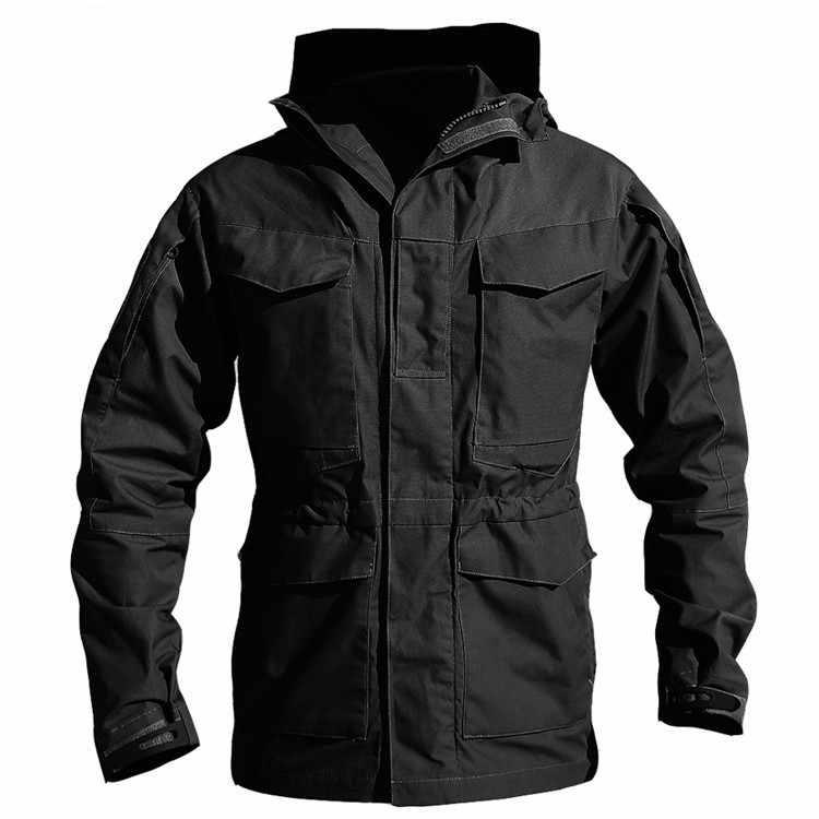 M65 UK US Tactical Military Windbreaker Jackets Mens Waterproof Hoodie Flight Pilot Coat Army Multi-pocket Casual Jackets