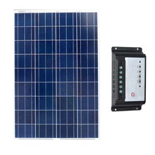 TUV Waterproof Solar PV Kit Panel 12v 100w Poly Charge Controller 12v/24v 10A Caravan Car Camp Rv Marine Boat Yacht