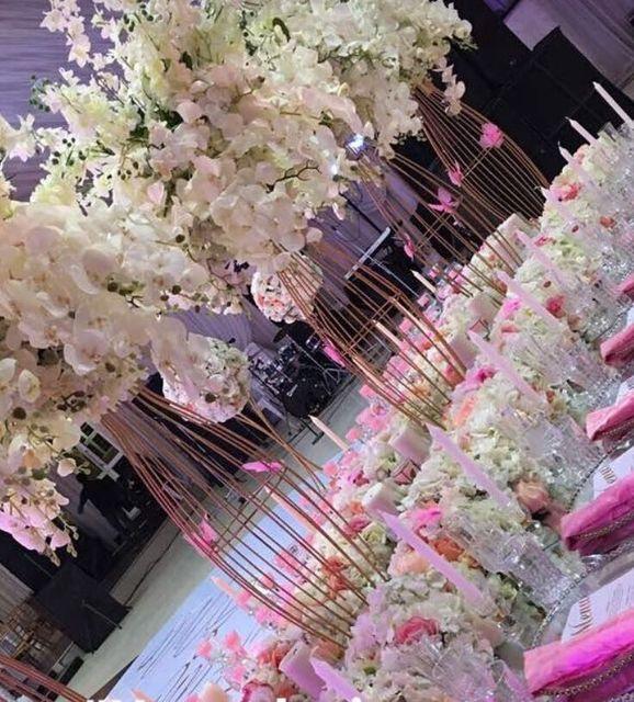 90 Cm Hoch Schone Hochzeit Center Vase Gold Silber Hochzeit