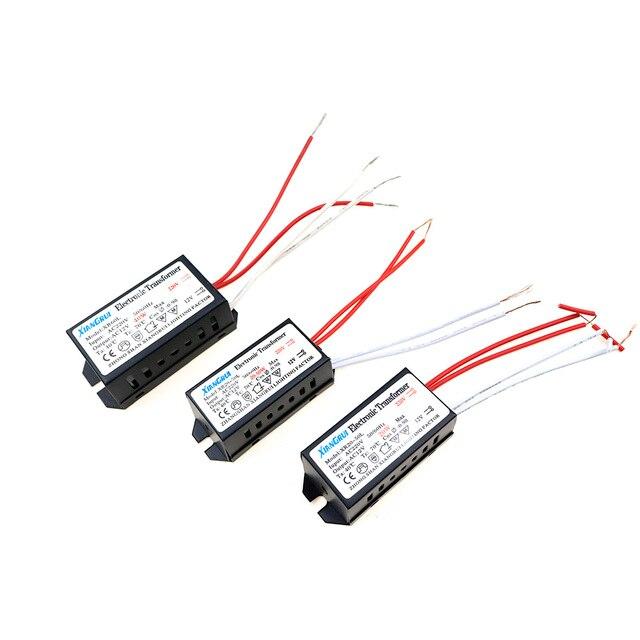 AC 12 V Elektronische Transformator 20 W 40 W 60 W 80 W 105 W 120 W 160 W 180 W 200 W 250 W Voor halogeenlamp & Kristal Lamp G4 Licht Kralen 1 STKS