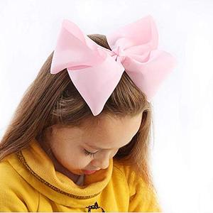 "Image 2 - 20 pcs 8 ""머리 리본 클립 부티크 grosgrain 리본 큰 큰 bowknot 바람개비 머리띠 아기 소녀 청소년 유아 어린이"