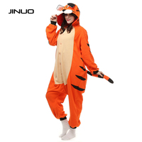 Adult Mens Bengal Tiger Jumpsuit One Piece Kigurumi Cartoon Animal Tiger Sleepwear Pajamas Onesies For Women