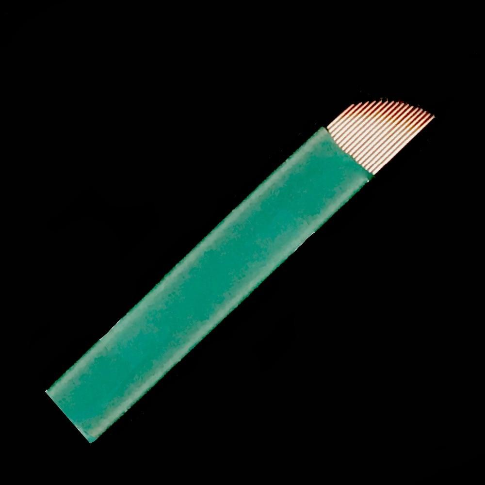 0,20mm 16 Pins Permanent Make-up Manuelle Augenbraue Tattoo Nadeln Klinge Für 3d Stickerei Microblading Tattoo Stift Maschine Tattoo & Körperkunst Tattoo-nadeln
