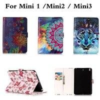For Funda IPad Mini2 Mini3 Case Cute Cartoon Flip Stand PU Leather Tablet Cover For Ipad