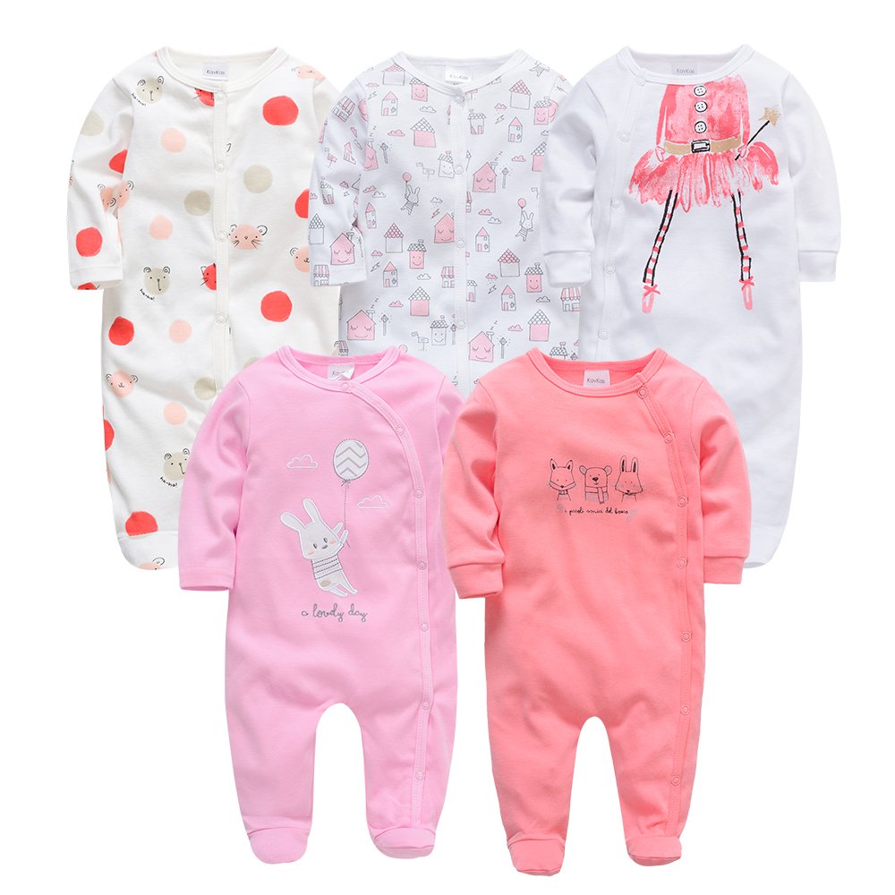 Kavkas Baby Boy Girl Autumn Winter Clothing 3m 6m 9m 12m Newborn Rompers 2pc 3pc 5pcs Clothing Set