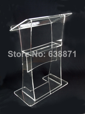 Free Shiping Clear Modern Design Customized Acrylic Lectern Modern Design Acrylic Lectern