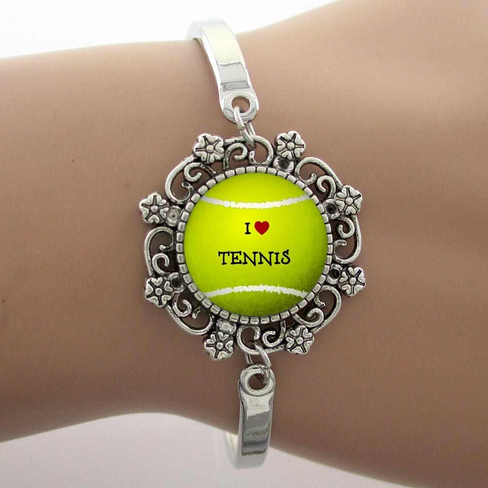 TAFREE fashion color Tennis ball photo jewelry set love tennis sports style women flower  necklace earrings bracelet sets SP661