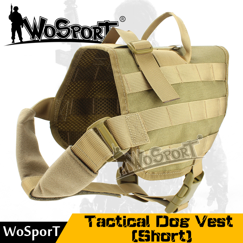 Tactical Army Dog Training Molle Outdoor Military SWAT Vest Load Bearing Harness Hunting Combat Pet Jacket  WoSporT