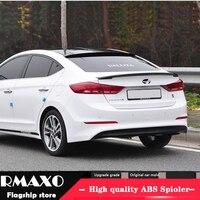 Für Hyundai Elantra Spoiler 2016 2017 Hohe Qualität ABS Material Auto Hinten Flügel Primer Farbe Heckspoiler-in Spoiler & Flügel aus Kraftfahrzeuge und Motorräder bei