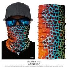 3D рыболовный нарукавник для шеи мотоциклетная маска для лица Фишер животное бесшовная Бандана Маска повязка на голову Велоспорт Охота Головной Платок Балаклава