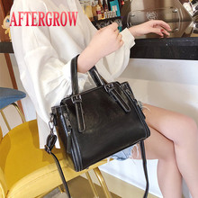 Retro Women Totes Handbags High Quality Vintage Oil Wax Leather Female Shoulder Bag Large Size Square Cross Body Messenger Bags