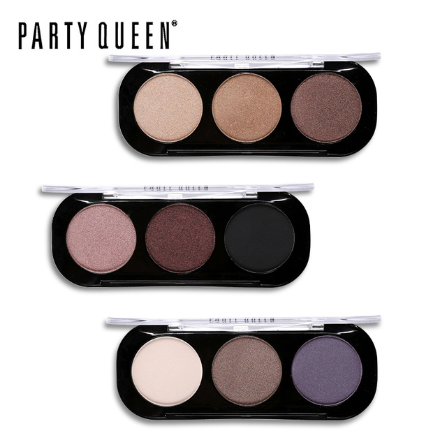 Party Queen 8 Style Shimmer Matte Bronze Trio Eye shadow