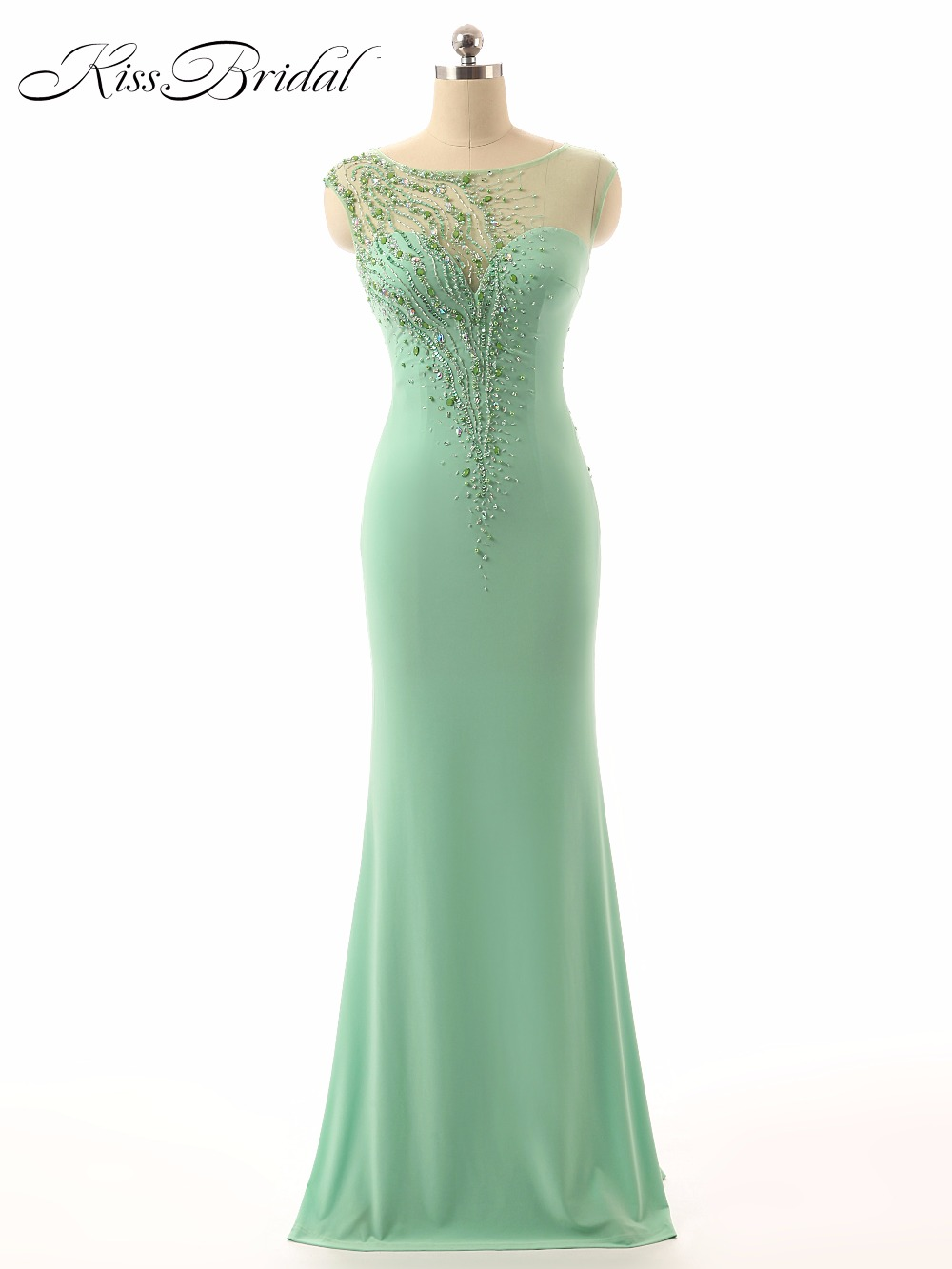 Sexy Long   Evening     Dresses   Beaded See Through 2017 Robe de Soiree Longue Floor Length Sleeveless Formal Party Prom   Dresses