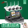ANRAN P2P HDMI 7'LCD Monitor 4CH WIFI NVR Night Vision IP66 Waterproof CCTV Security 720P Wireless IP Camera Surveillance System