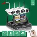 Anran p2p hdmi 7'lcd monitor 4ch nvr wifi visión nocturna ip66 impermeable 720 p cámara ip inalámbrica de vigilancia de seguridad cctv sistema