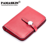 2017 New Arrival Genuine Leather Vertical Soft Simple Feminine Wallets Brand Design Two Fold Women Wallet