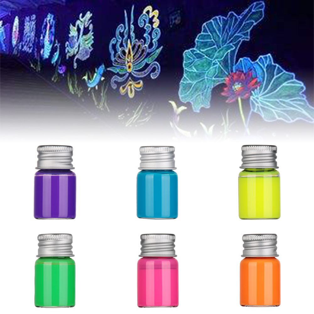 5ml Glow In Dark Graffiti DIY Non Carbon Fluorescent Ink Luminous Ink Paint Bright Pigment Shiny Multifunction Tattoo Inks