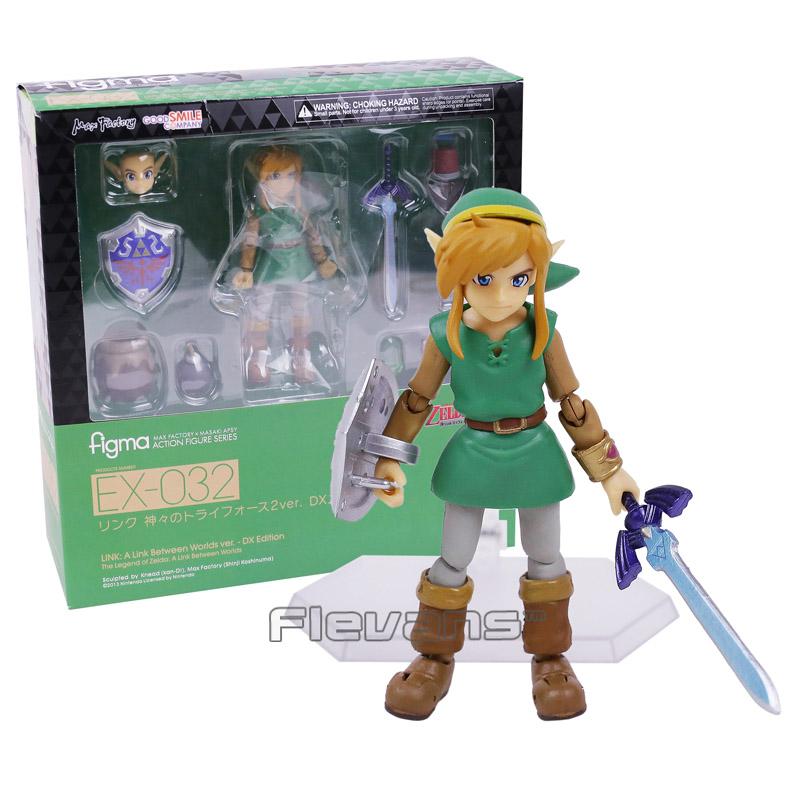 The Legend of Zelda Link A Link Between Worlds Figma EX-032 / Figma 284  PVC Action Figure Collectible Model Toy 2 Types anime the legend of zelda 2 a link between worlds link figma 284 pvc action figure collectible model kids toys doll 10 5cm