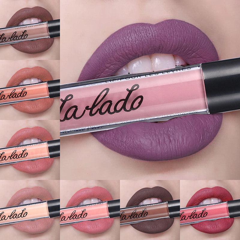 Matte liquid lipstick <font><b>12</b></font> color <font><b>sexy</b></font> <font><b>girl</b></font> matte lipstick waterproof long-lasting lip gloss beauty cosmetics image