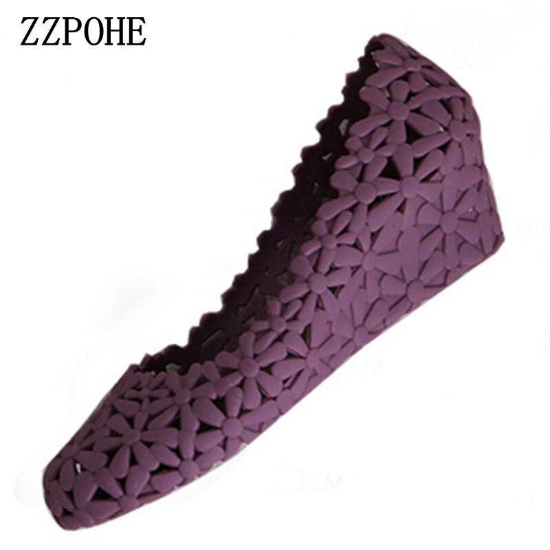 ZZPOHE Wedges Sandals Mid-Heels Women's Shoes Large-Size Flip-Flops Comfortable Woman