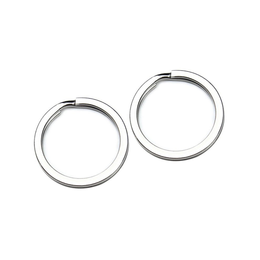 30pcs lot Stainless Steel Key Rings Split Rings Circle Silver Color 30mm Diameters Z627 in Key Chains from Jewelry Accessories