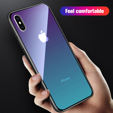 Gradient Covers For Iphone Xr Cases Tempered Glass Coque X 8 7 6 6S Plus XR XS MAX Smart Accessories Hard Bumper
