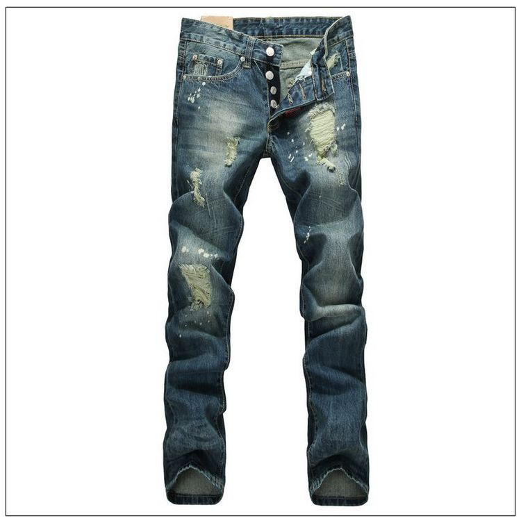 Famous Brand Men Straight Slim Fit Biker Jeans Pant Denim Trousers Jeans Men Biker Denim skinny Jeans Man Free Shipping 2017 fashion patch jeans men slim straight denim jeans ripped trousers new famous brand biker jeans logo mens zipper jeans 604