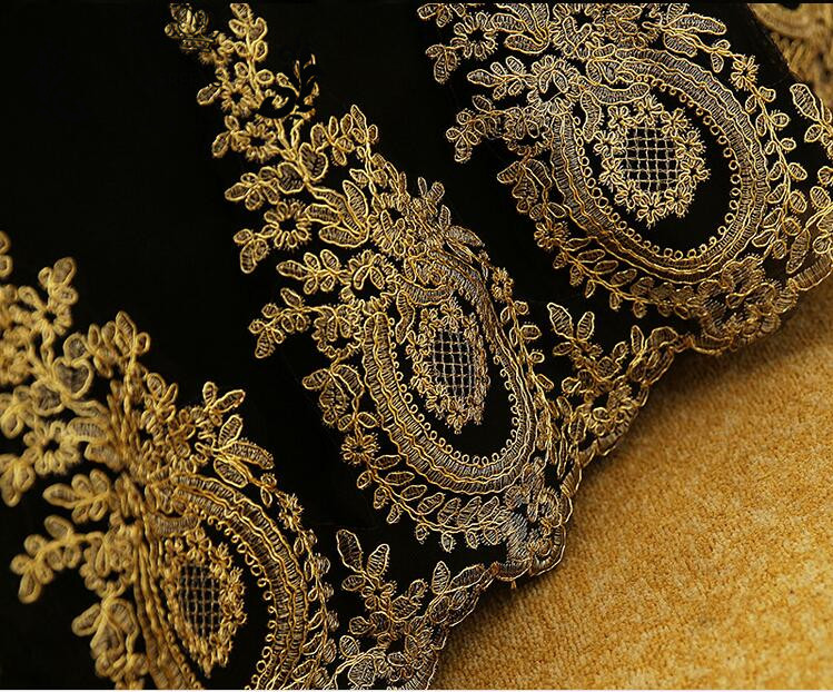 New Elegant Ball Gown Prom Dresses Long Gold Lace Applique Black Tulle  Corset Evening Party Dress vestido de festa-in Prom Dresses from Weddings    Events on ... f046528cd06d