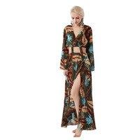 Summer Long Dress Fashion Women Boho Dress Sexy Women Dress Vestidos Long Sleeve Dresses Ukraine Womens