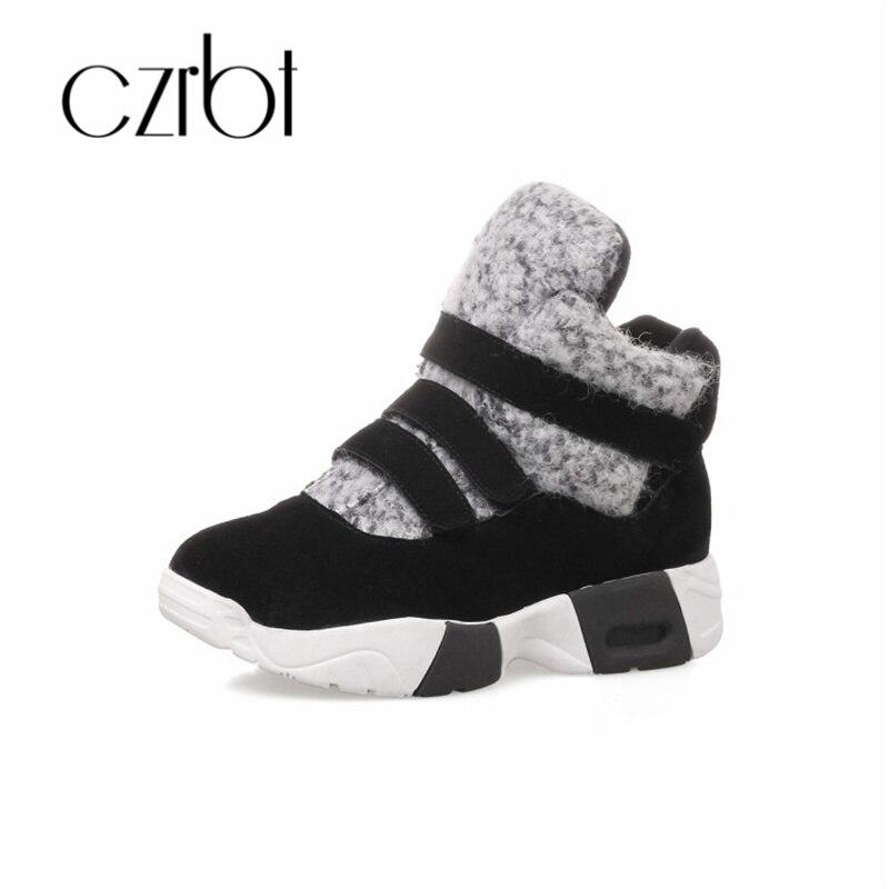 New Plat Czrbt Orteil Chaussures Chaude La Anti Chaud De dérapage Occasionnel Femmes Noir Bottes À Baskets Hiver Mode Hot Ronde Neige SVUzMp