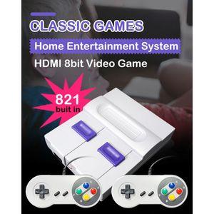 Image 4 - Süper MINI SNES NES Retro klasik Video oyunu konsolu TV oyunu oynatıcı dahili 821 oyunları çift oyun klavyeler