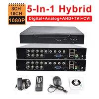 CCTV Security 16CH AHD DVR 1080N 1080P 8CH 5IN1 Hybrid TVI CVI HVR NVR HDMI 3G WIFI Digital Video Recorder P2P Motion detection