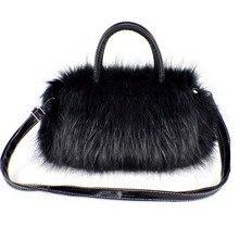 Hot Luxury Women Handbag Faux Rabbit Fur Designer Female Small Messenger Bags Winter Women Ladies Crossbody