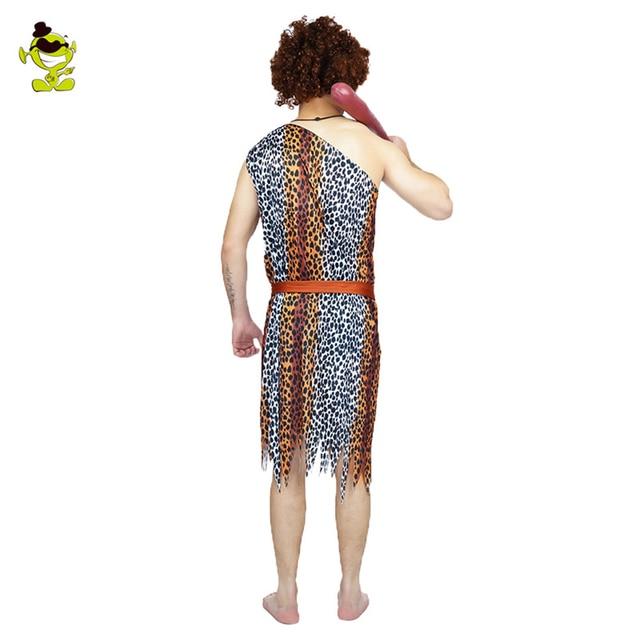 Disfraz de hombre y mujer de jungla disfraz de hombre de las cavernas Wildman Cosplay disfraces de Carnaval Stone Age Stag Cosplay trajes de fiesta
