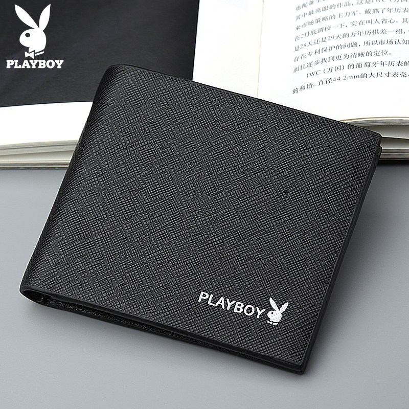 Playboy New Men's Standard Wallets Brand Quality Leather Short Dollar Price Fashion Purse Male Card Holder Wallet Money Pocket best price mgehr1212 2 slot cutter external grooving tool holder turning tool no insert hot sale brand new