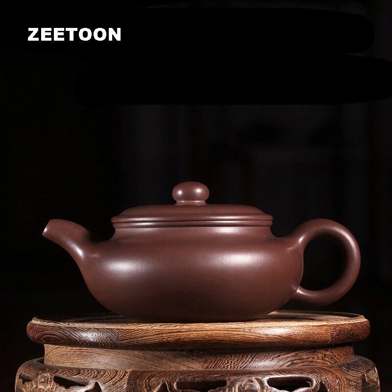 220cc Antique Pot Maître Main Authentique Yixing Théière Chinois Santé violet Argile Thé Ensemble Thé Pot Fang Gu Pot Teaware bouilloire