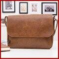 Натуральная кожа мешок мужчины сумка-мессенджер, Плечо сумки bolsas кожа свободного покроя портфель, Ретро мужчины в путешествие сумки