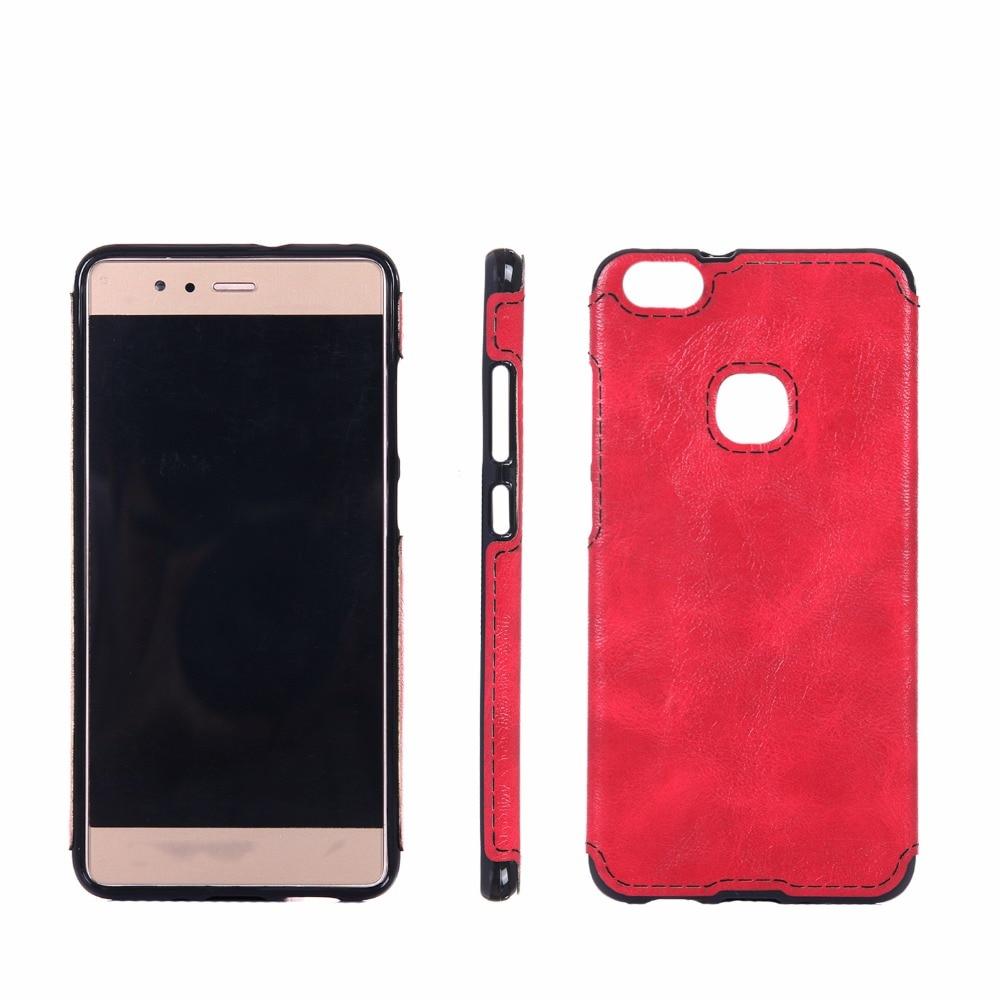 För Huawei P10 Lite Väska Mjukt TPU Läder Klistra in huden Silikon - Reservdelar och tillbehör för mobiltelefoner - Foto 6
