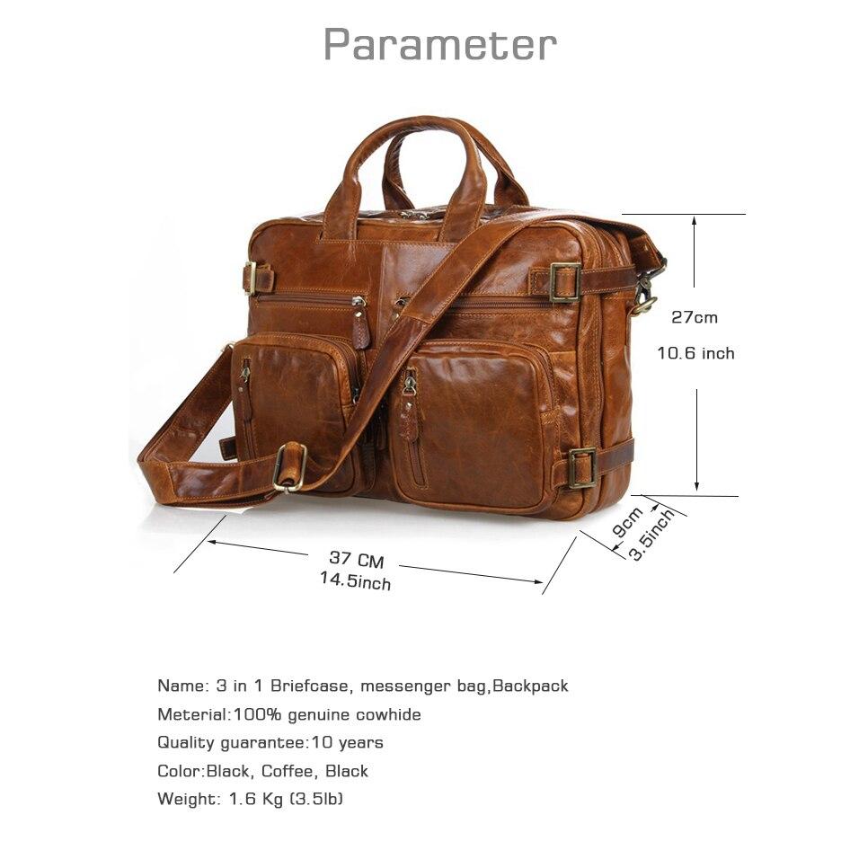 Crossten Multifunctionele Natuurlijke Koeienhuid 100% Echt Leer mannen Aktetas Grote Capaciteit Zakelijke tas Laptop Messenger Bag-in Aktetassen van Bagage & Tassen op  Groep 2