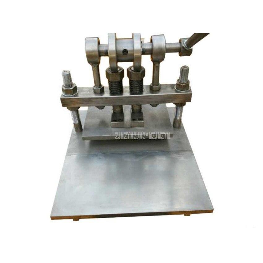 Стороны работают Desktop двойной столбец ручной клупп резки кожи плесень пробивая пресс машина для резки перфорированный лист 315*240 мм