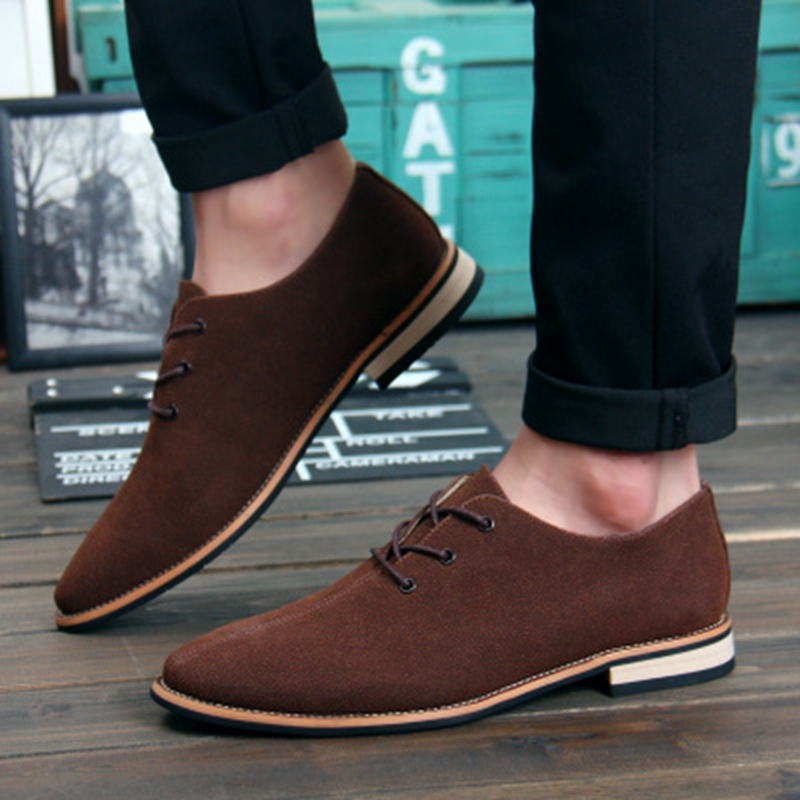 a149e0e5996b Men Oxford Shoes Nice sping autumn New Suede Genuine Leather Men Flat Oxford  Casual Shoes Men Flats Loafers Zapatos Hombre-in Men s Casual Shoes from  Shoes ...