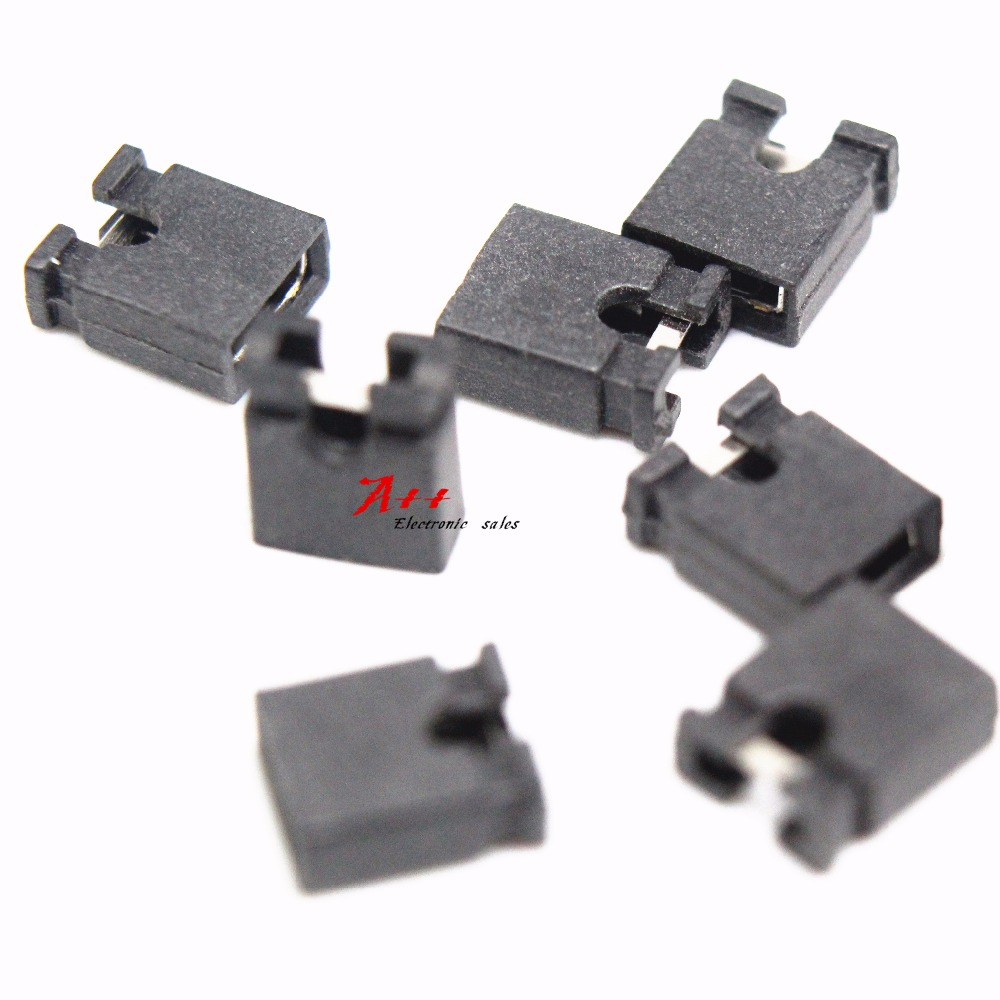 50Pcs Mini Micro Jumper For 2.54 Mm Header Shunts ez