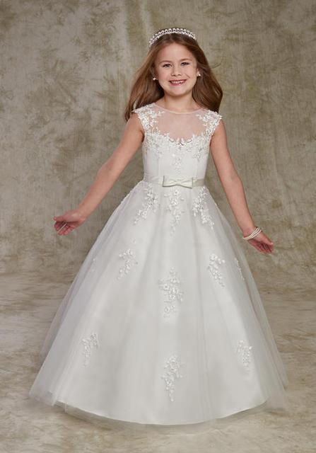 Lange blume m dchen kleider f r hochzeit kleider for Wedding dresses for large hips