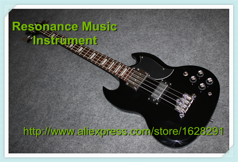 Hot Selling Black Epiph. SG Electric Guitar 4 String Bass Guitarra 22 Frets Rosewood Fingerboard Lefty Available top quality multicolour sg electric guitar 4 string bass guitarra 22 frets left handed available