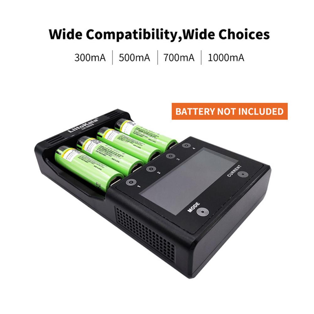 LCD Lithium Battery Charger With 4 Battery Slots Touch Control Capacity Measurable Charging Adap Car Charger Adapter