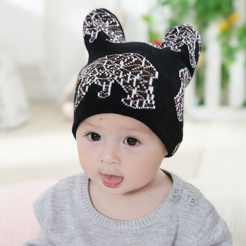 Bnaturalwell Baby slouchy beanie Toddler hipster knit hat boys cap Little  girls pilot hat Soft cute animal design I love Mama-in Skullies   Beanies  from ... 469e33b1dee6