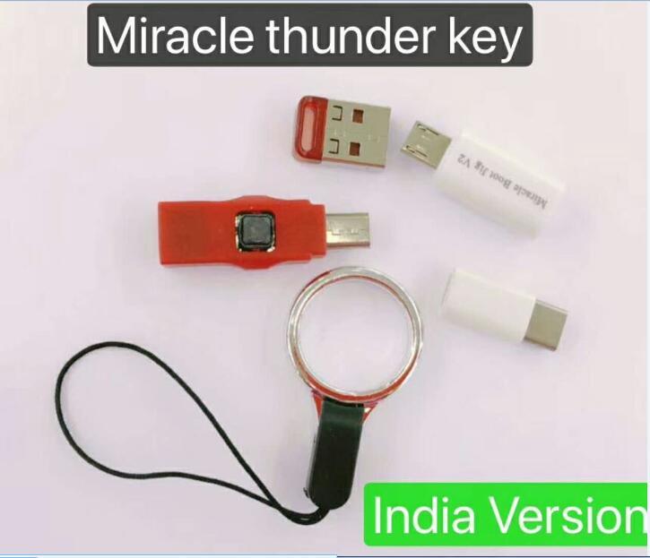 Livraison Gratuite 2018 d'origine Internationales nouveau Miracle thunder clé dongle Miracle + Miracle Boot GABARIT pas besoin miralce boîte et clé
